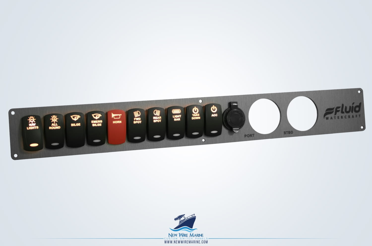 marine grade switch panel - lit switches