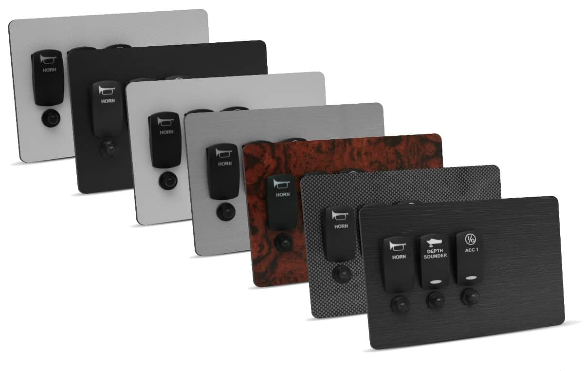 New Wire Marine custom switch panel material options