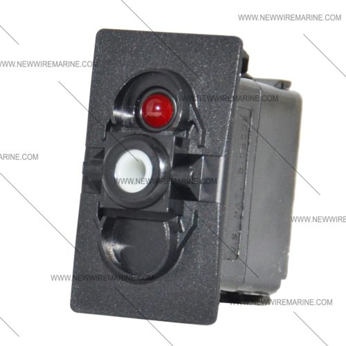 red led rocker switch lighted momentary